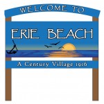 Erie Beach Sign Design